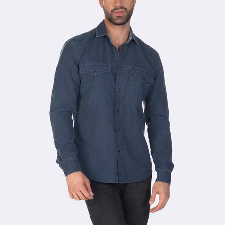 Jordan Dress Shirt // Indigo (XS)
