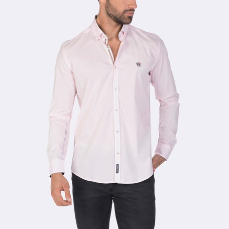 Zach High Quality Basic Dress Shirt // Pink (XS)
