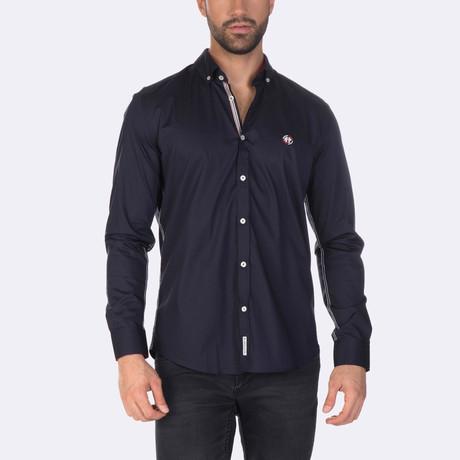 Russell High Quality Basic Dress Shirt // Navy (XS)