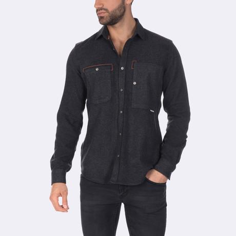 Oscar Dress Shirt // Anthracite (XS)