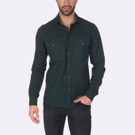 Israel Dress Shirt // Green (XS)
