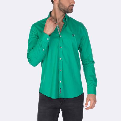 Jurgen High Quality Basic Dress Shirt // Green (XS)