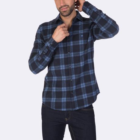 Dwayne Dress Shirt // Navy + Indigo (XS)
