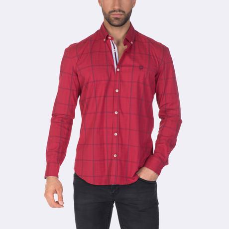 Tatum Dress Shirt // Red + Navy (XS)