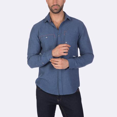 Beckham Dress Shirt // Indigo (XS)