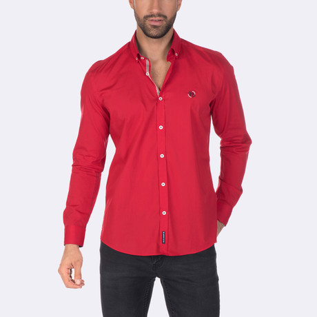 Rodrigo High Quality Basic Dress Shirt // Red (XS)