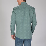 Aquarius Dress Shirt // Green + Beige (L)