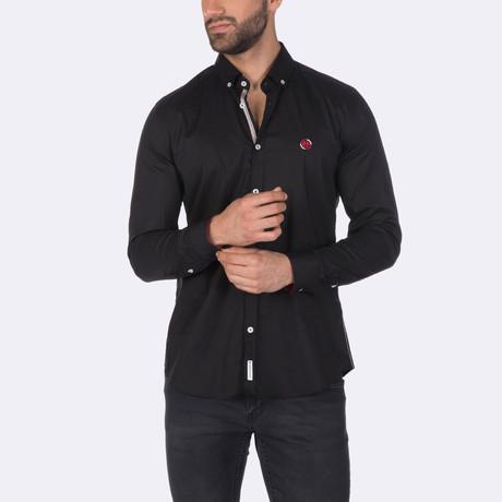 Zion High Quality Basic Dress Shirt // Black (XS)