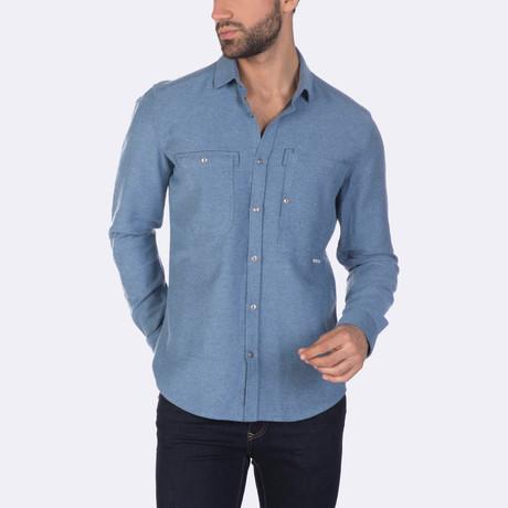 Kyan Dress Shirt // Blue (XS)