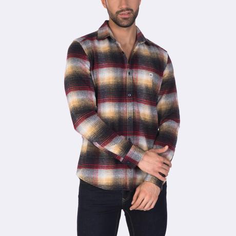 Pepe Dress Shirt // Navy + Red Striped (XS)