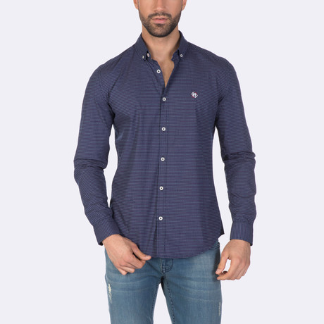 Kendrick Dress Shirt // Navy (XS)