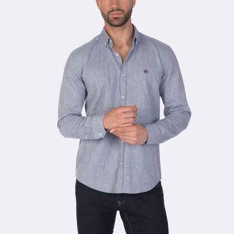 Mohammed Dress Shirt // Navy (XS)