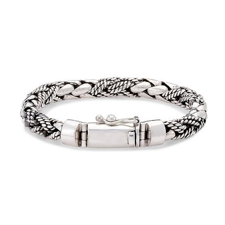 Sterling Silver Interlocking Weave Bracelet