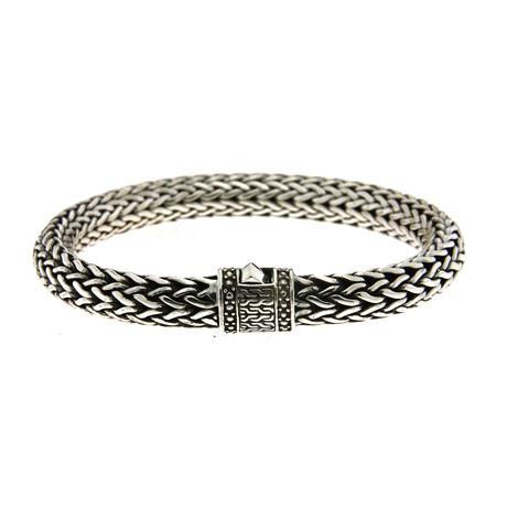 """Sterling Silver Tulang Naga Bracelet (7"""" // 56g)"""