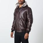 Gerard Leather Jacket // Brown (2XL)