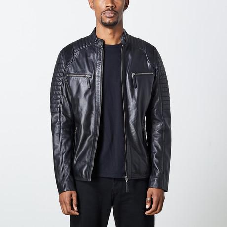 Nathanael Leather Jacket // Black (S)