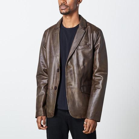 Carlos Leather Jacket // Brown (S)