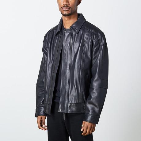 Leonardo Leather Jacket // Black (S)