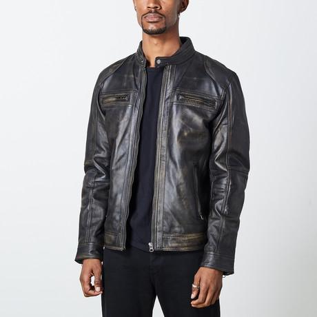 George Leather Jacket // Black (S)