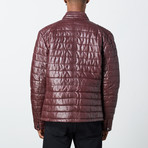 Marcus Leather Jacket // Wine (2XL)