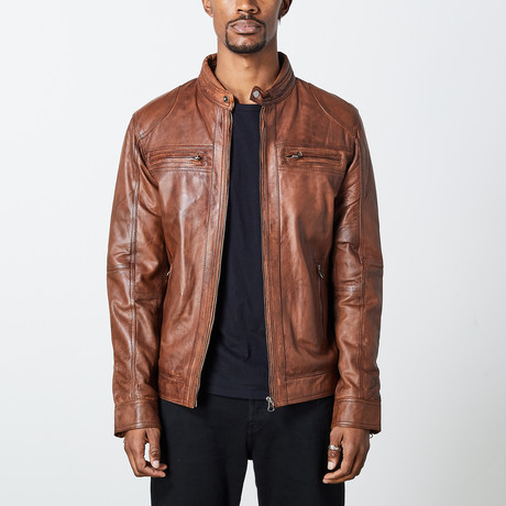 George Leather Jacket // Tan (S)