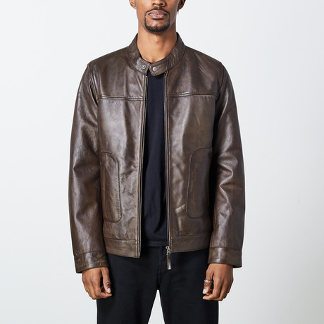 Giulio Leather Jacket // Brown (S)