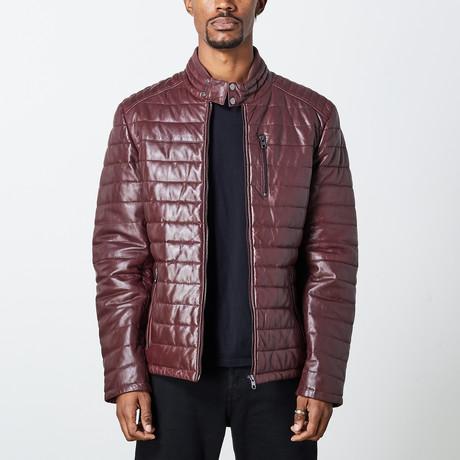Marcus Leather Jacket // Wine (S)