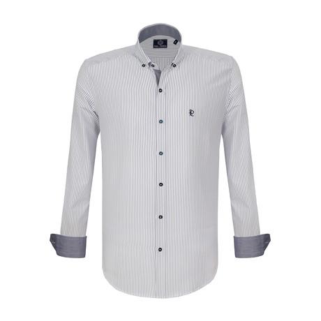 Francis Dress Shirt // White + Navy (S)
