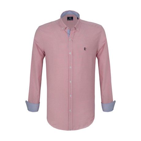 Richard Dress Shirt // Pink + White (S)