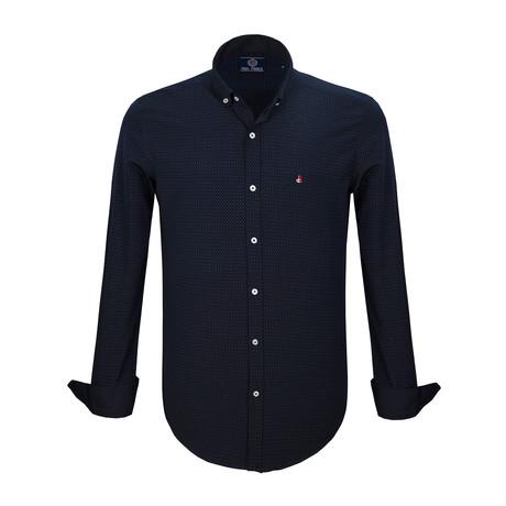 Payton Dress Shirt // Navy (S)