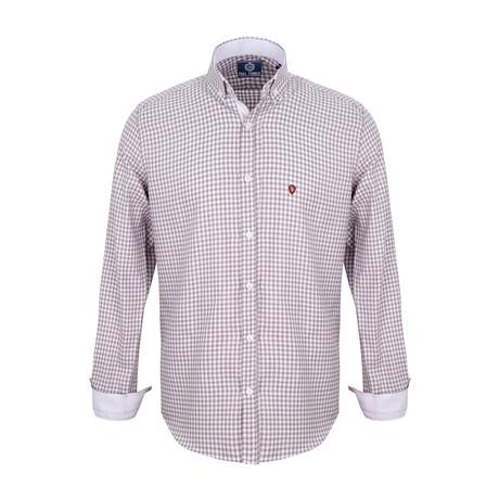 Keelen Dress Shirt // Brown + Ecru Plaid (S)