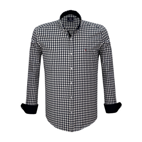 Brian Dress Shirt // Navy + White (S)