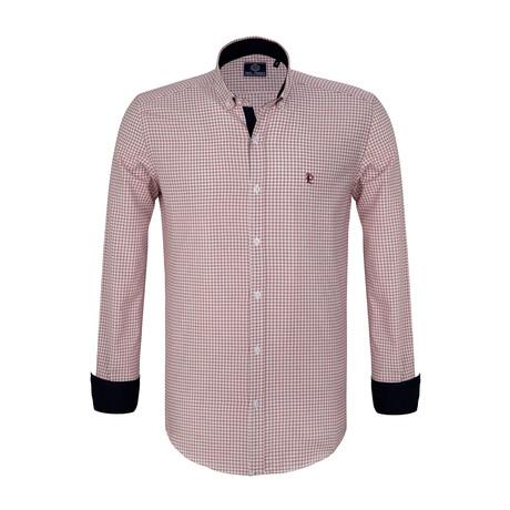 Tomas Dress Shirt // Ecru + Red (S)