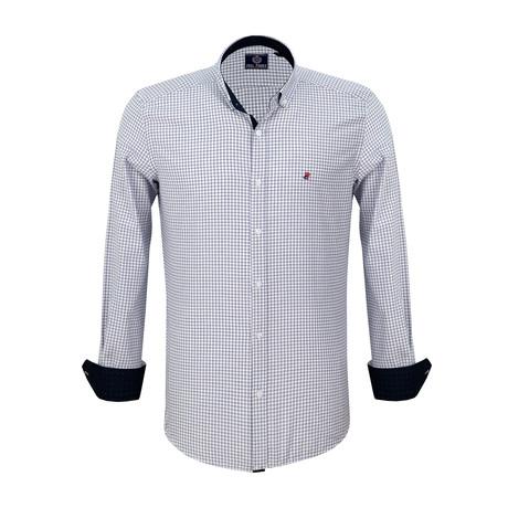 Nicholas Dress Shirt // Sax + White (S)