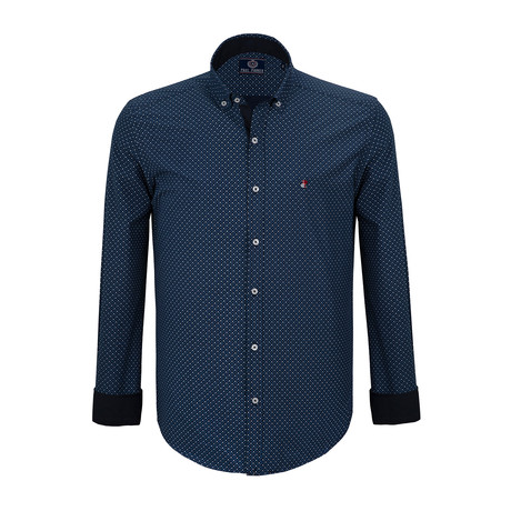 Spencer Dress Shirt // Navy (S)