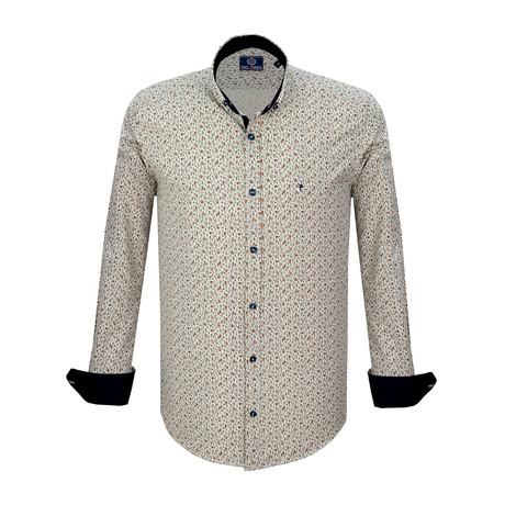 Daniel Dress Shirt // Beige + Navy (S)