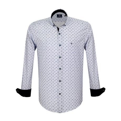 Istmus Dress Shirt // White + Sax (S)