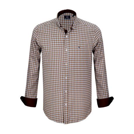 Tahoe Dress Shirt // Mustand + White (S)