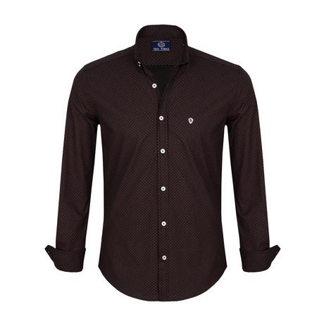 Scot Dress Shirt // Black + Brick (S)