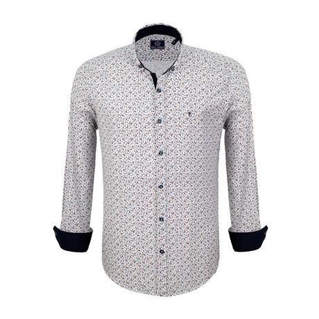 Shamus Dress Shirt // White + Navy (S)