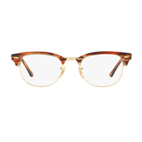 Ray-Ban // Men's Clubmaster Optical Frames // Brown Horn Gold