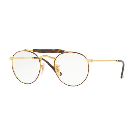 Men's 0RX3747V Round Optical Frames // Tortoise + Gold