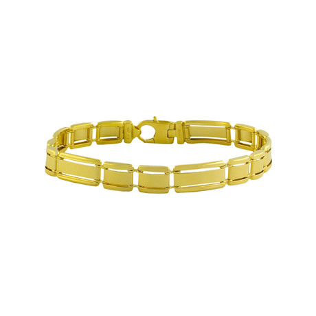 18K Yellow Gold Plated Sterling Silver Bracelet