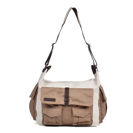 Travel Cargo Bag // Beige + Khaki