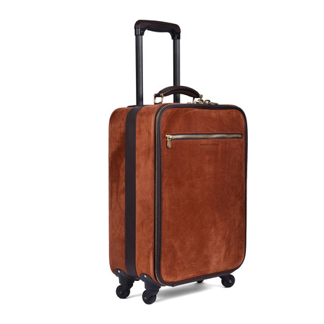 Two-Tone Suitcase // Rust + Brown