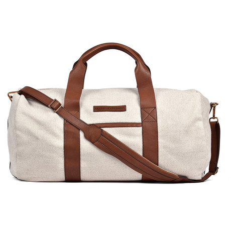 Weekend Duffel Bag // Beige + Brown