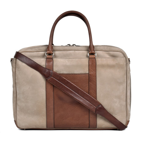 Two-Tone Garment Bag // Beige + Brown