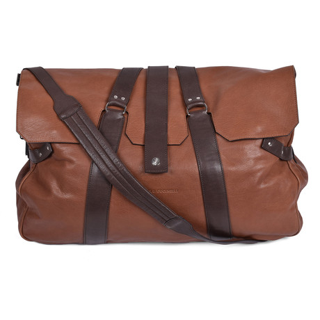 Weekender Aged Leather Bag // Chestnut