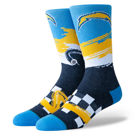 Chargers Wave Racer Socks // Blue (M)