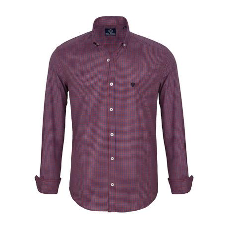 Adam Dress Shirt // Navy + Red Plaid (S)